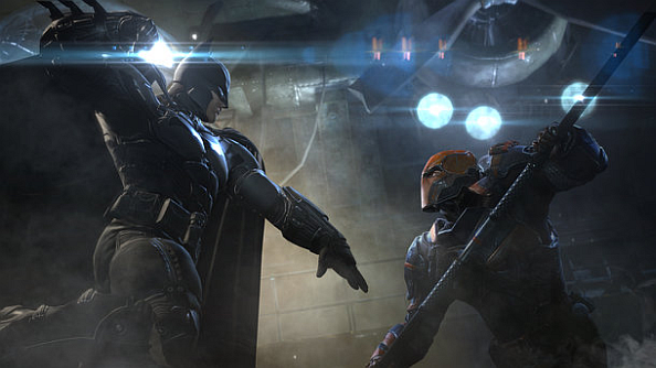 New Batman: Arkham Origins screenshots; the bat flexes his muscles