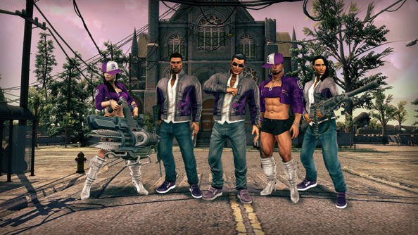 Saints Row IV GAT V Pack free today on Steam: dress as Johnny, fire a combat knife launcher