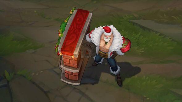 Santa Braum in-game