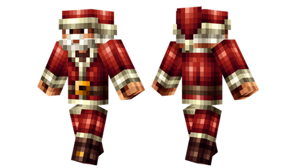 santa hd minecraft skin
