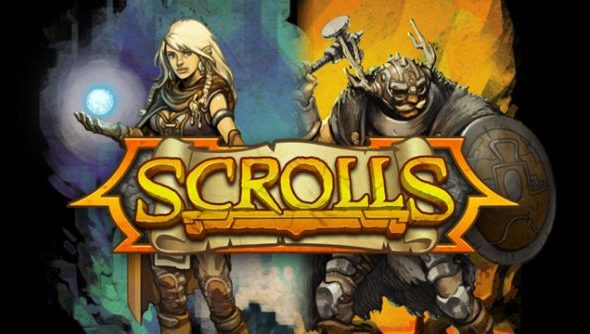 The logo for scrolls