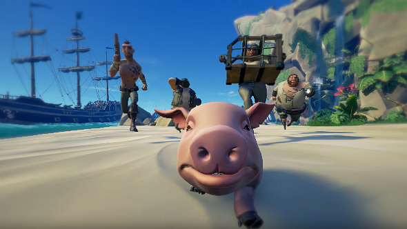 sea of thieves feed pigs