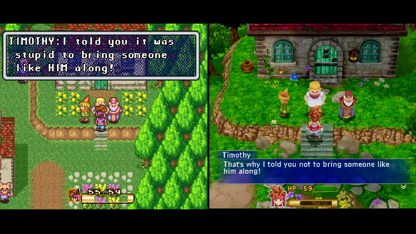 secret of mana remake snes comparison