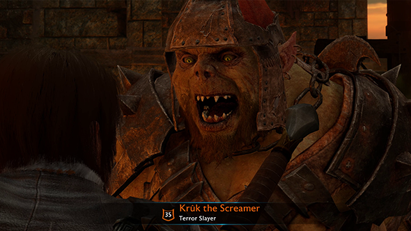 middle-earth shadow of war kruk the screamer
