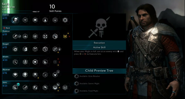 Middle Earth Shadow of War skills