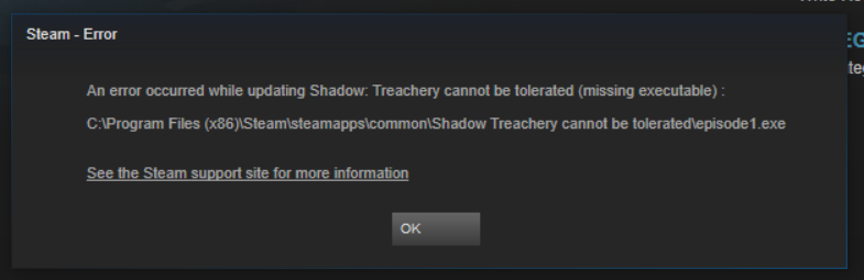 shadow treachery will not be tolerated