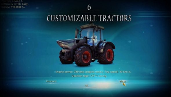 Farm Machines Championships 2014 has shark tractors