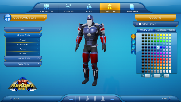 Hereu0027s the character creator from Ship of Heroes a spiritual sequel to City of Heroes & Hereu0027s the character creator from Ship of Heroes a spiritual sequel ...