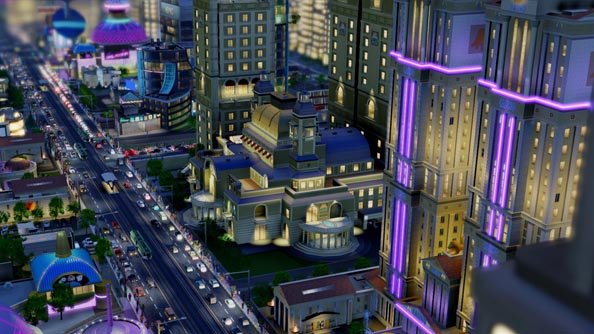 SimCity intro trailer shows off the different city types and the system layers powering them