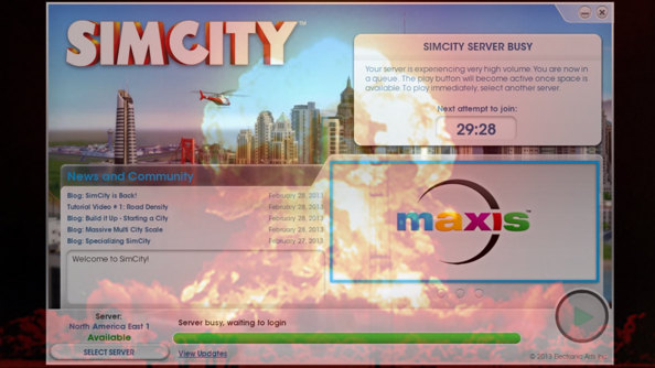 SimCity launch hobbled by server strain; EA offering refunds