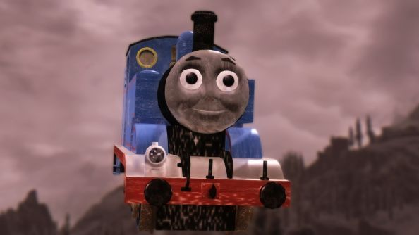 """What does it take to kill this monster?"" Meet Thomas the Tank Engine, scourge of Skyrim"