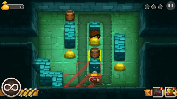 Watch four levels of Sneaky Sneaky, a stealthy dungeon adventure