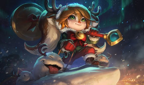 Snow Fawn Poppy splash art