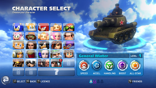 Company of Heroes 2 character crops up in Sonic & All-Stars Racing Transformed
