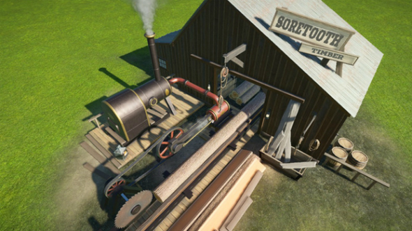 Planet Coaster creations lumber mill