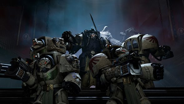 Even in a Space Hulk, there is just enough room for a dramatic battle formation.