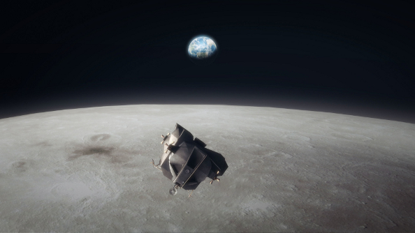 Buzz Aldrin's Space Program Manager launches by aiming for the Moon