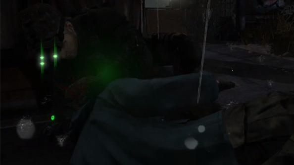 """Splinter Cell Blacklist """"through the lens"""" art style is as though Sam Fisher is being followed by a documentary crew"""