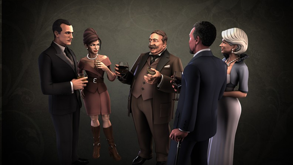 Spy Party video shows new art style. Shoot sims with a sniper rifle