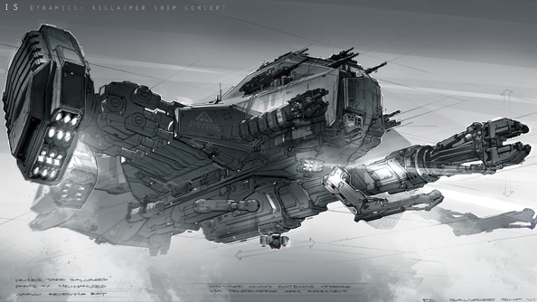 A recent Star Citizen stretch goal: the Reclaimer.