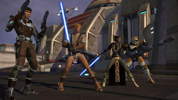 Star Wars: The Old Republic: where no player ever really stands still for this long.