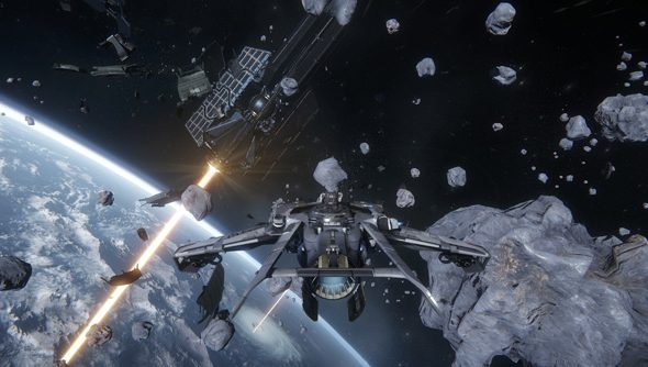 These asteroids mark out the arena we could be commanding, were we good enough at barrel rolls.