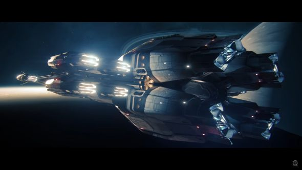A Javelin destroyer in Star Citizen