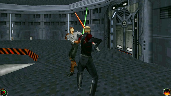 If anyone ever doubts that melee duels happened in 1997 shooters, show them Jedi Knight