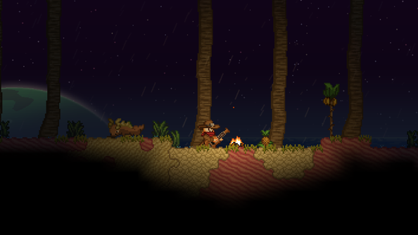 New biomes for Christmas: Starbound Winter Update brings 360-degree combat, lots besides