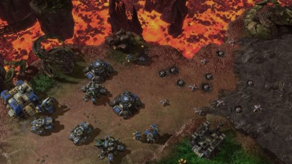 StarCraft II, and its widow mines.