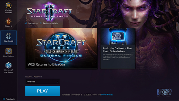 StarCraft II, in its new abode.