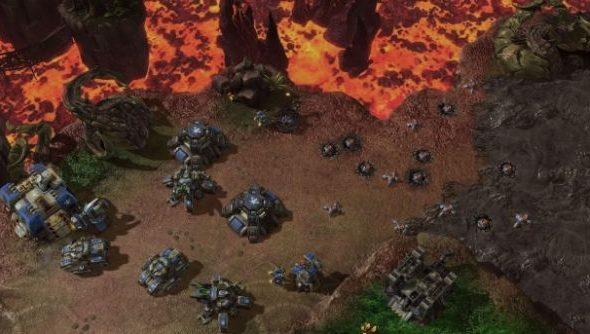 StarCraft II, and its widow mines.
