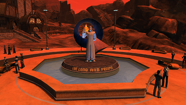 Star Trek Online honours Leonard Nimoy with statue memorial