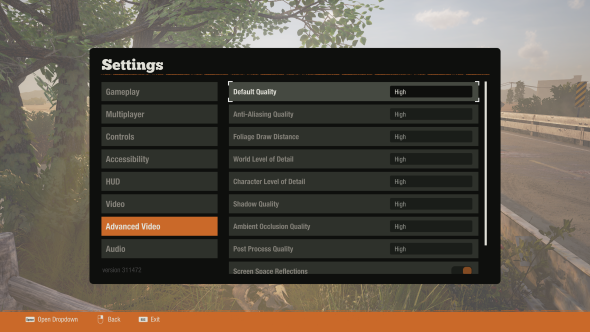 state of decay 2 performance advanced settings