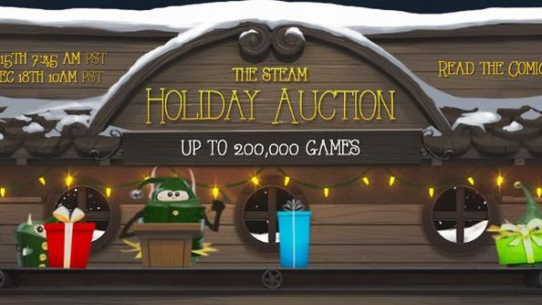 Steam Holiday Auction: bid on 200k free games with recycled badges and inventory items