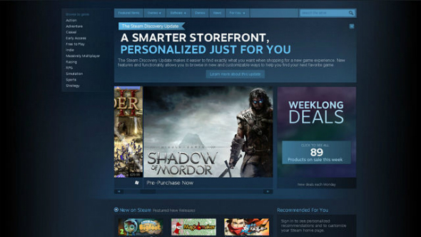 Steam store getting a facelift as Valve prepares devs for visibility changes