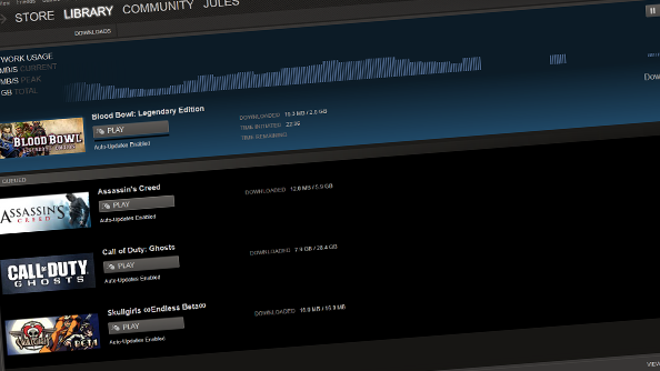 Steam update lets you download games while you\u0027re playing. Spare