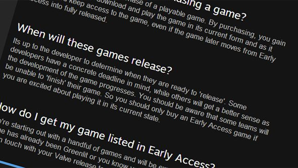Steam Early Access, explained as well as it possibly can be.