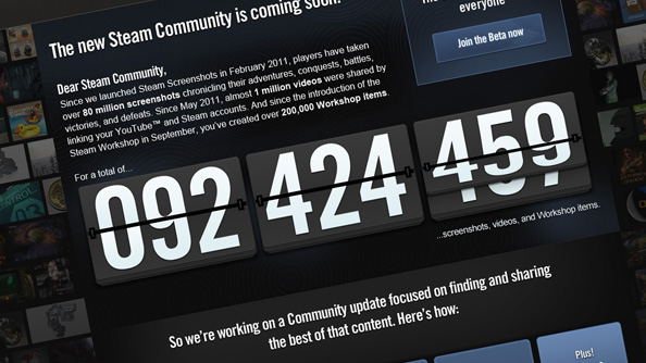 Steam Community beta now available to all. Beware: boobs
