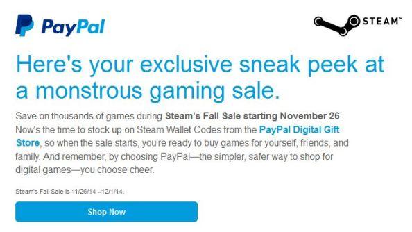 PayPall Steam Autumn Sale 2