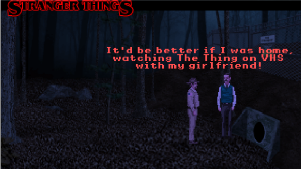 Stranger Things transformed by fans into LucasArts point-and-click