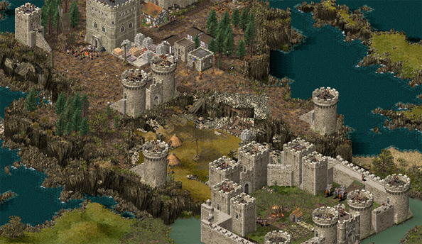 Stronghold HD is out; has such high resolution that you can see all of the battlefield on one screen