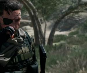 Metal Gear Solid 5: The Phantom Pain footage starts with horseplay, ends in flames