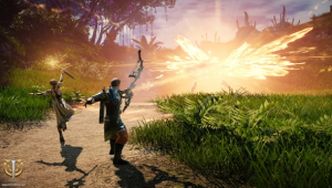 Skyforge is an MMO where halfway in you become a god