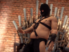 Saints Row 4: Enter the Dominatrix trailer is completely fitting in tone of the game. Has a slow-wanking gimp
