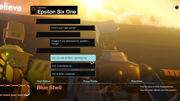 Subsurface Circular is a text adventure from Bithell Games and is out now