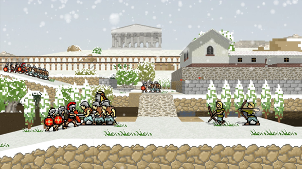 Super Roman Conquest asks you to command Rome in the face of destruction