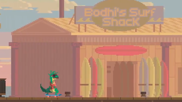 Super Time Force video introduces us to skateboarding dinosaurs
