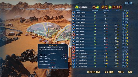 Surviving Mars' Command Center