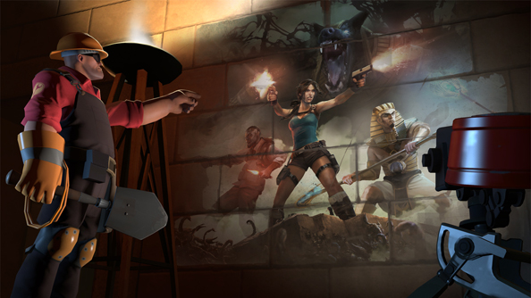 Valve tap Team Fortress 2 Workshop community for Tomb Raider items